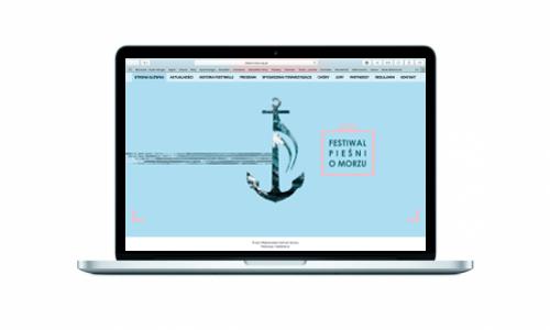 Strona internetowa dla Ogólnopolskiego Festiwalu Pieśni o Morzu