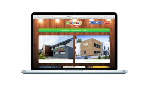 Strona internetowa dla przedszkola Mapeciaki