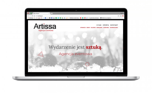 Agencja eventowa Artissa z nową interaktywną stroną internetową