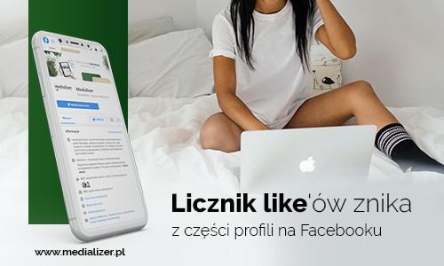Licznik likeów znika z części profili na Facebooku