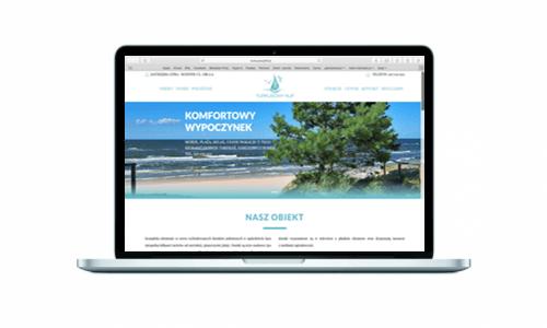 Turkusowy Klif - kompleks nadmorskich domków z nową stroną internetową