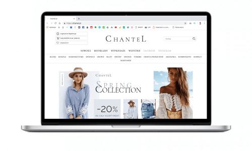 Butik online dla marki Chantel