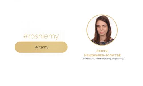 Joanna Pawłowska-Tomczak witamy w zespole!
